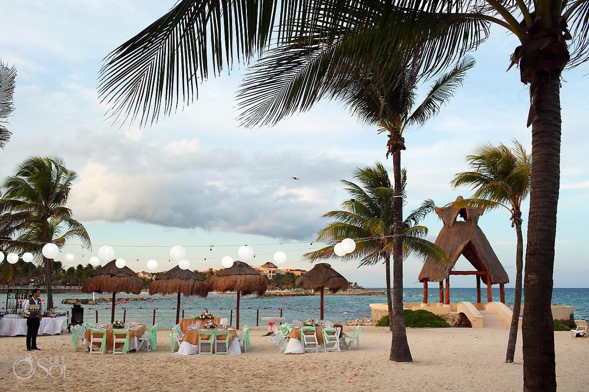 Dreams Puerto Aventuras Wedding set up Riviera Maya Mexico