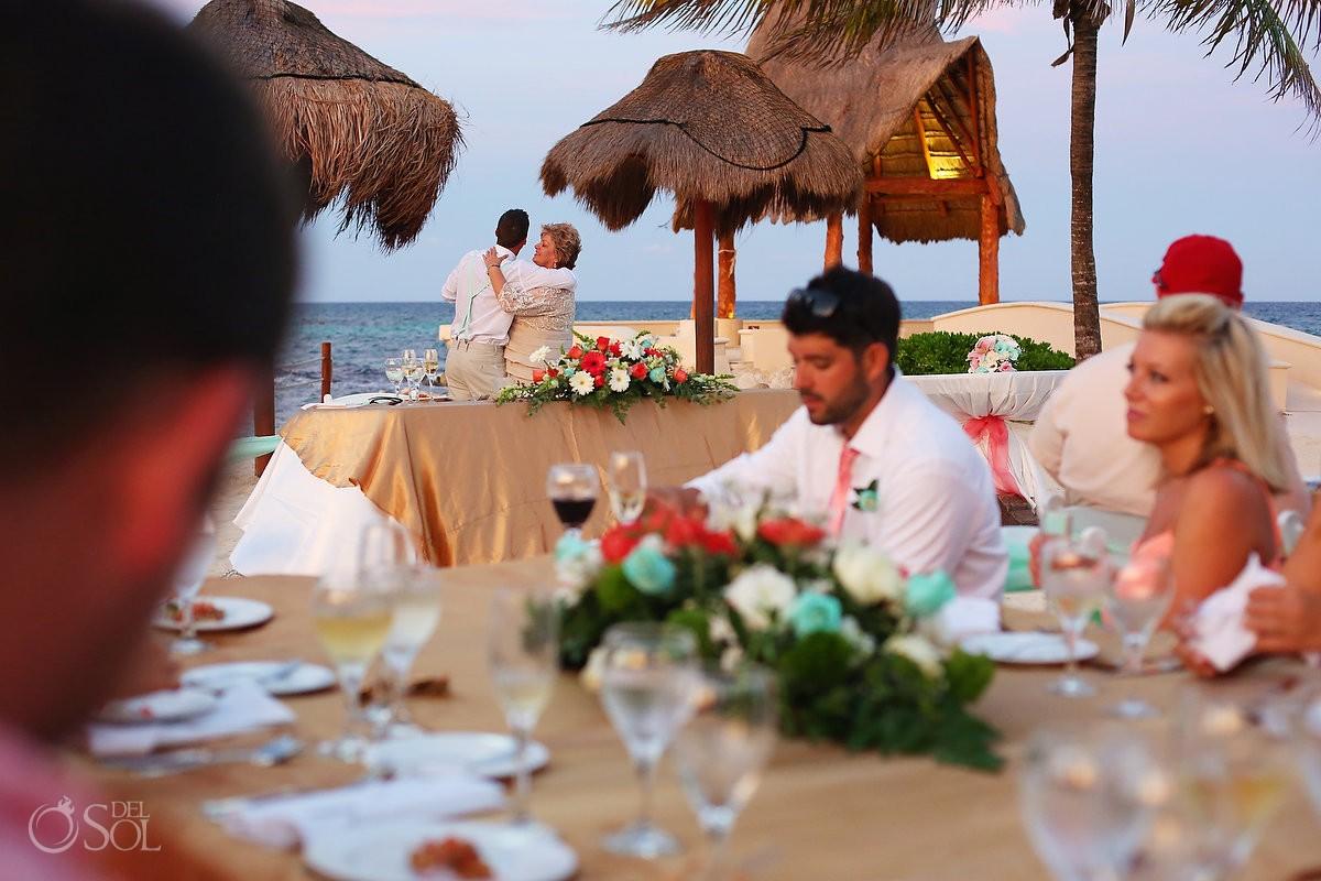 Sunset first dance Dreams Puerto Aventuras north beach, Riviera Maya, Mexico