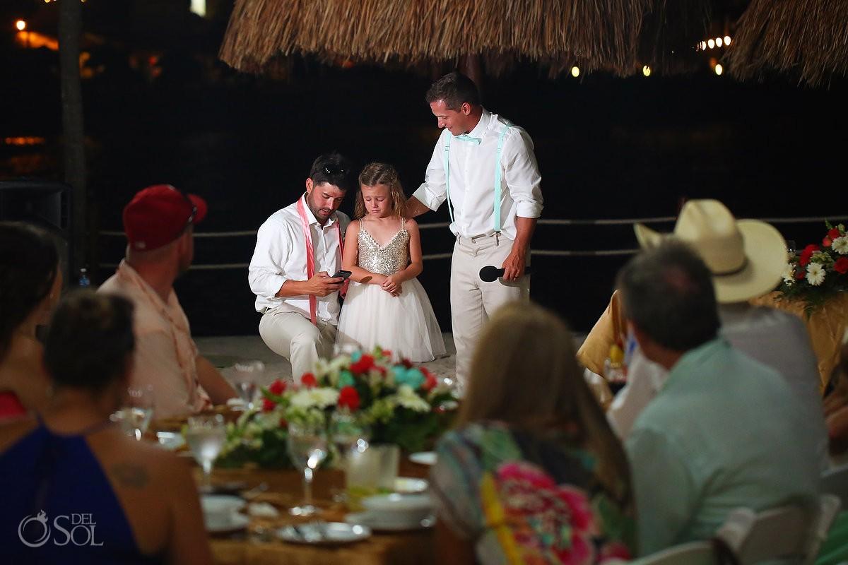 speeches destination wedding reception Dreams Puerto Aventuras North Beach
