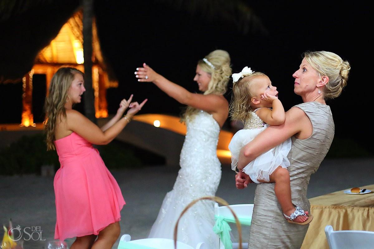 dancing destination wedding reception Dreams Puerto Aventuras North Beach