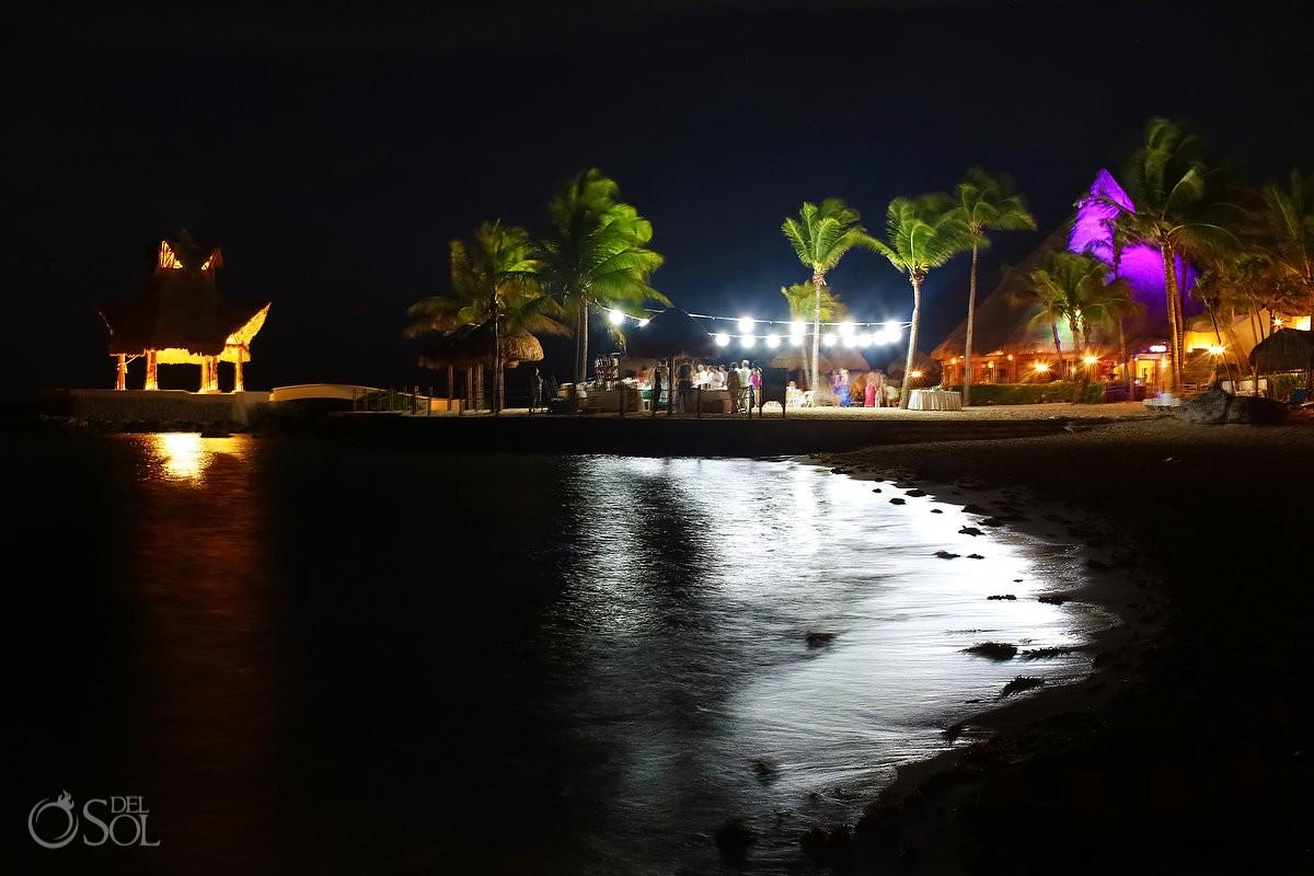destination wedding reception Dreams Puerto Aventuras North Beach
