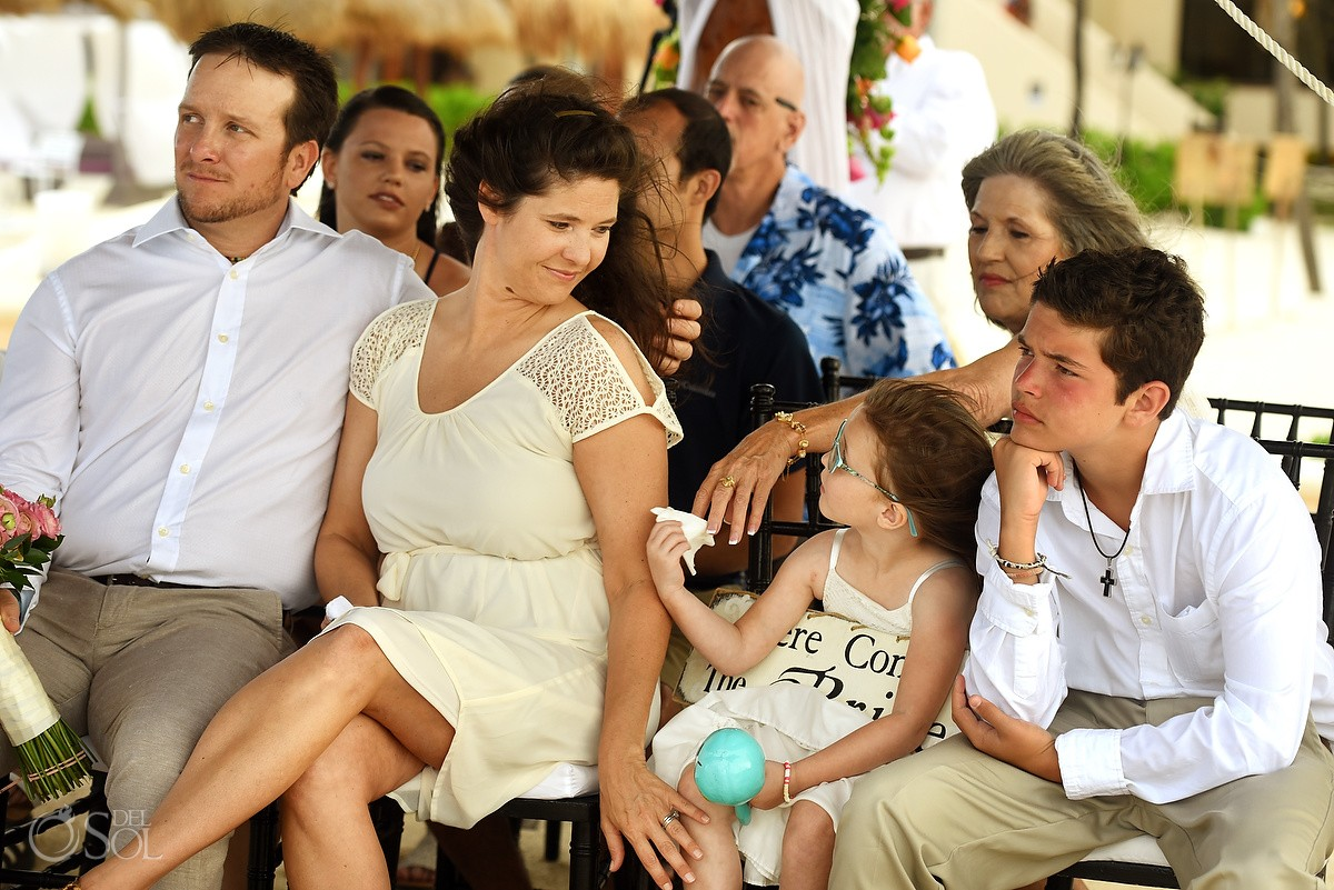 Guest at Wedding Ceremony at Dreams Puerto Aventuras, Riviera Maya