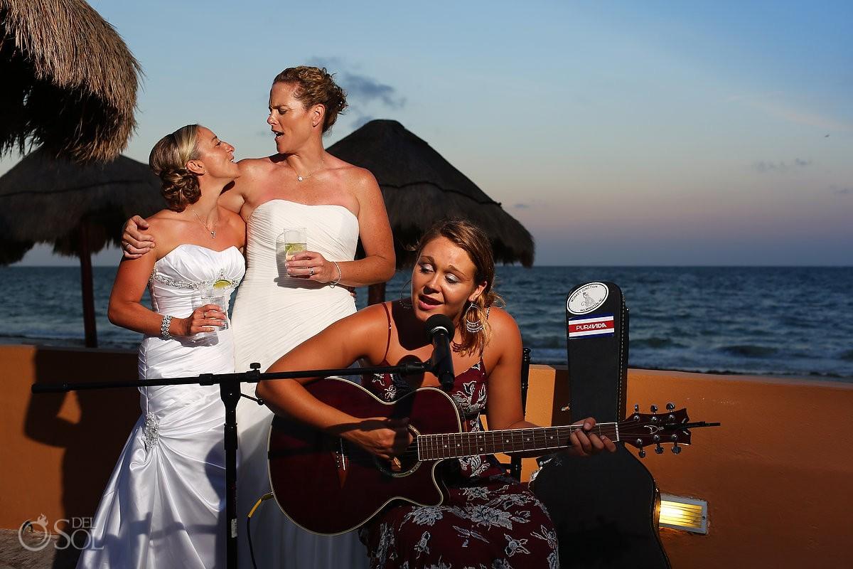 same sex destination wedding photo at now sapphire riviera cancun