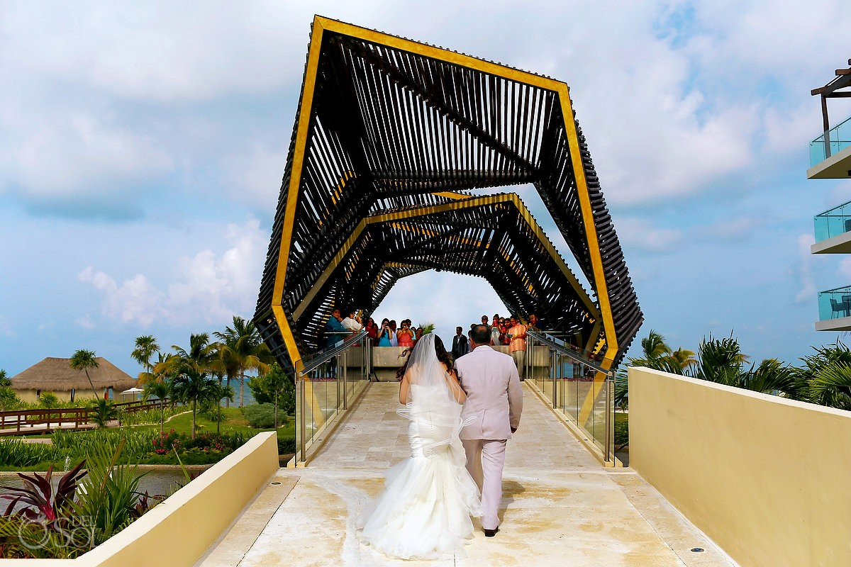 Royalton chapel bride entrance amazing church destination wedding ceremony location, Riviera Cancun, Mexico