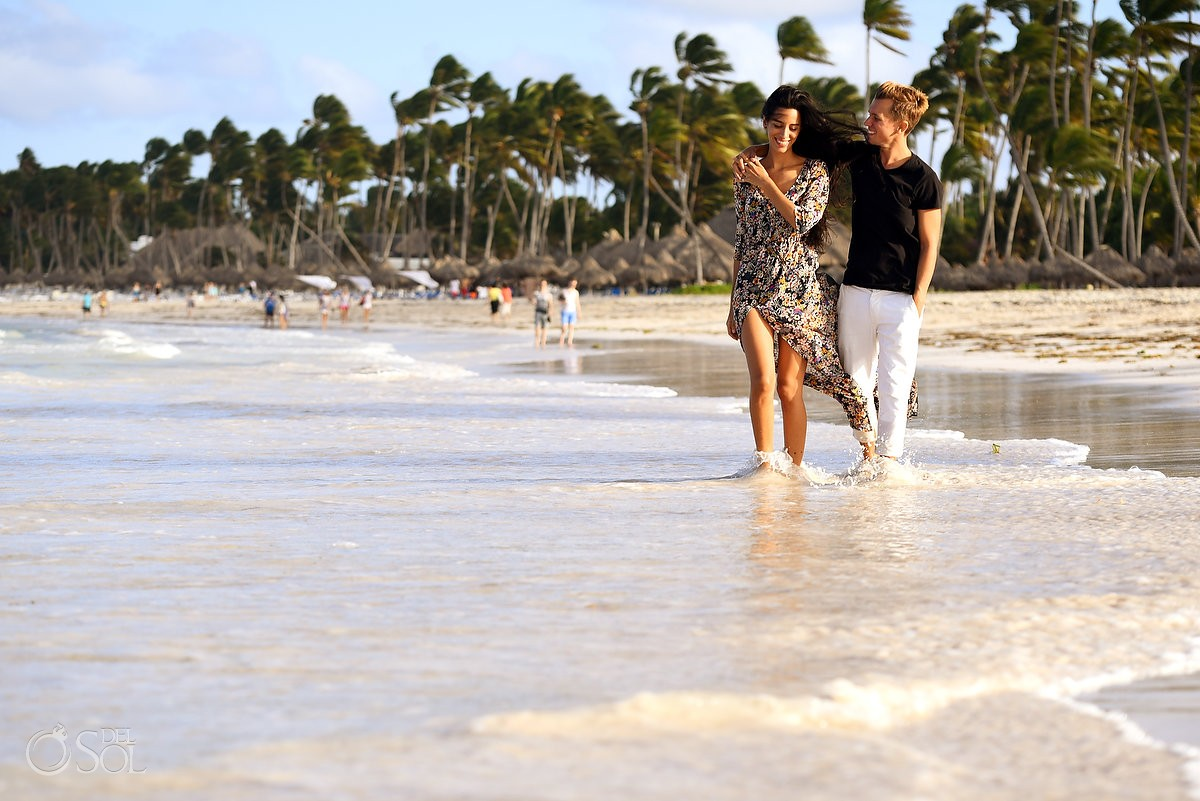 couple walking beach Dominican Republic Portraits, Paradisus Palma Real Golf & Spa Resort Punta Cana