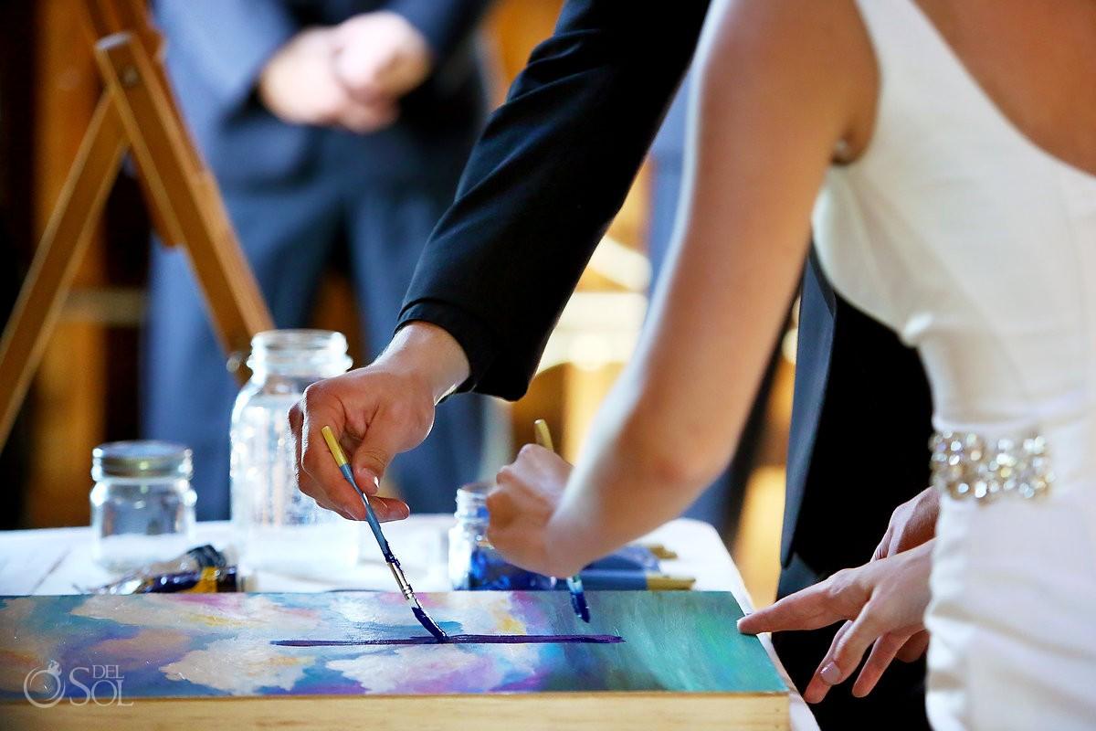 wedding unity painting bloom lake barn