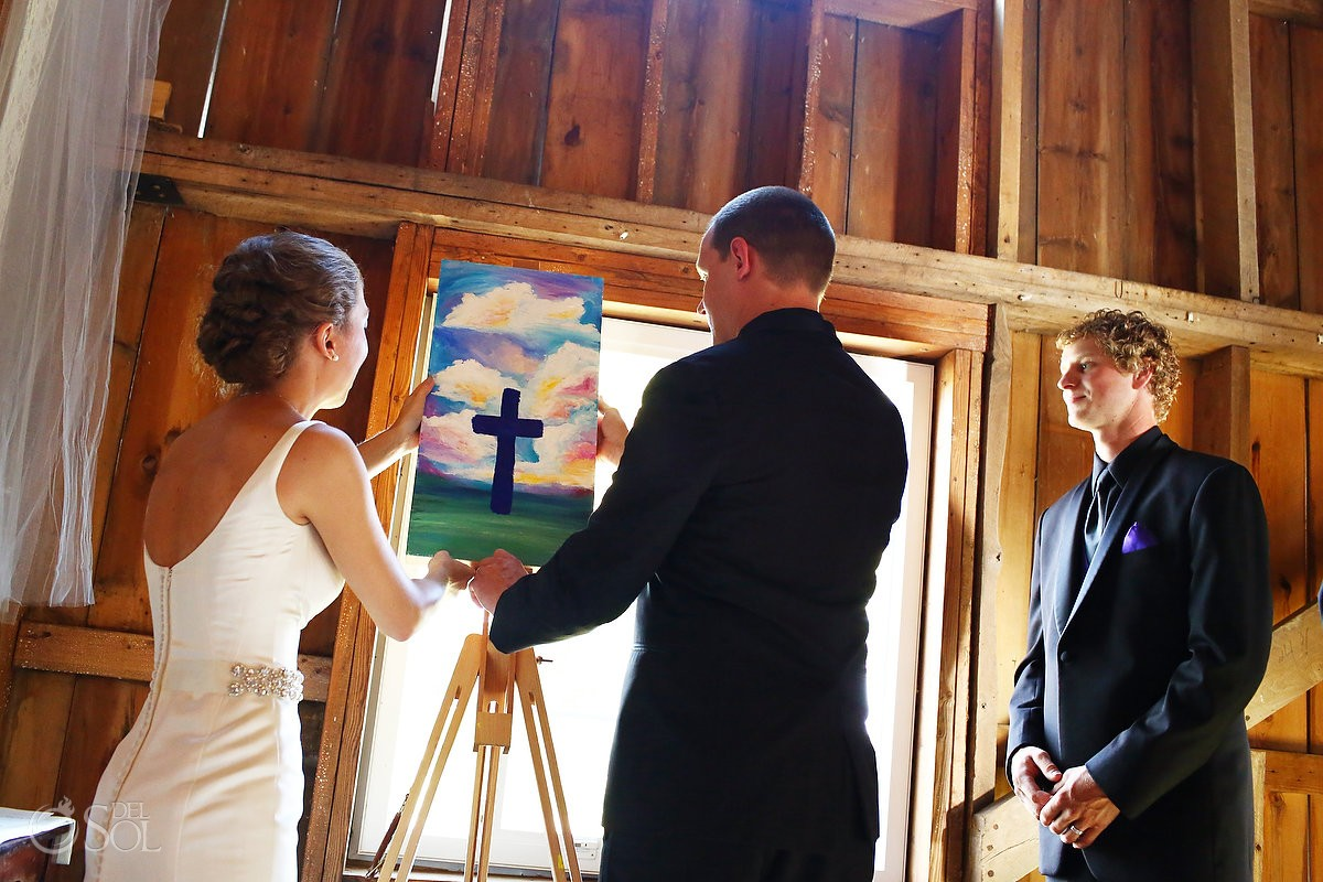 wedding unity painting