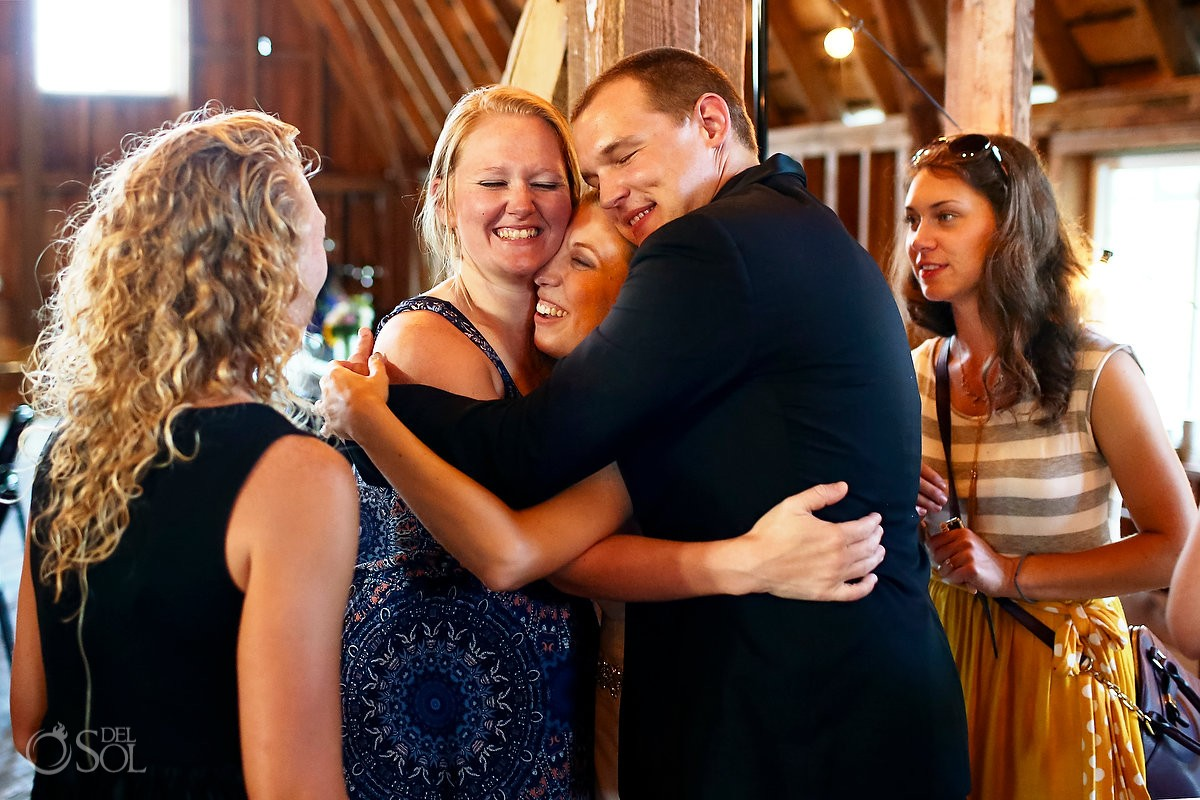 group hug at bloom lake barn