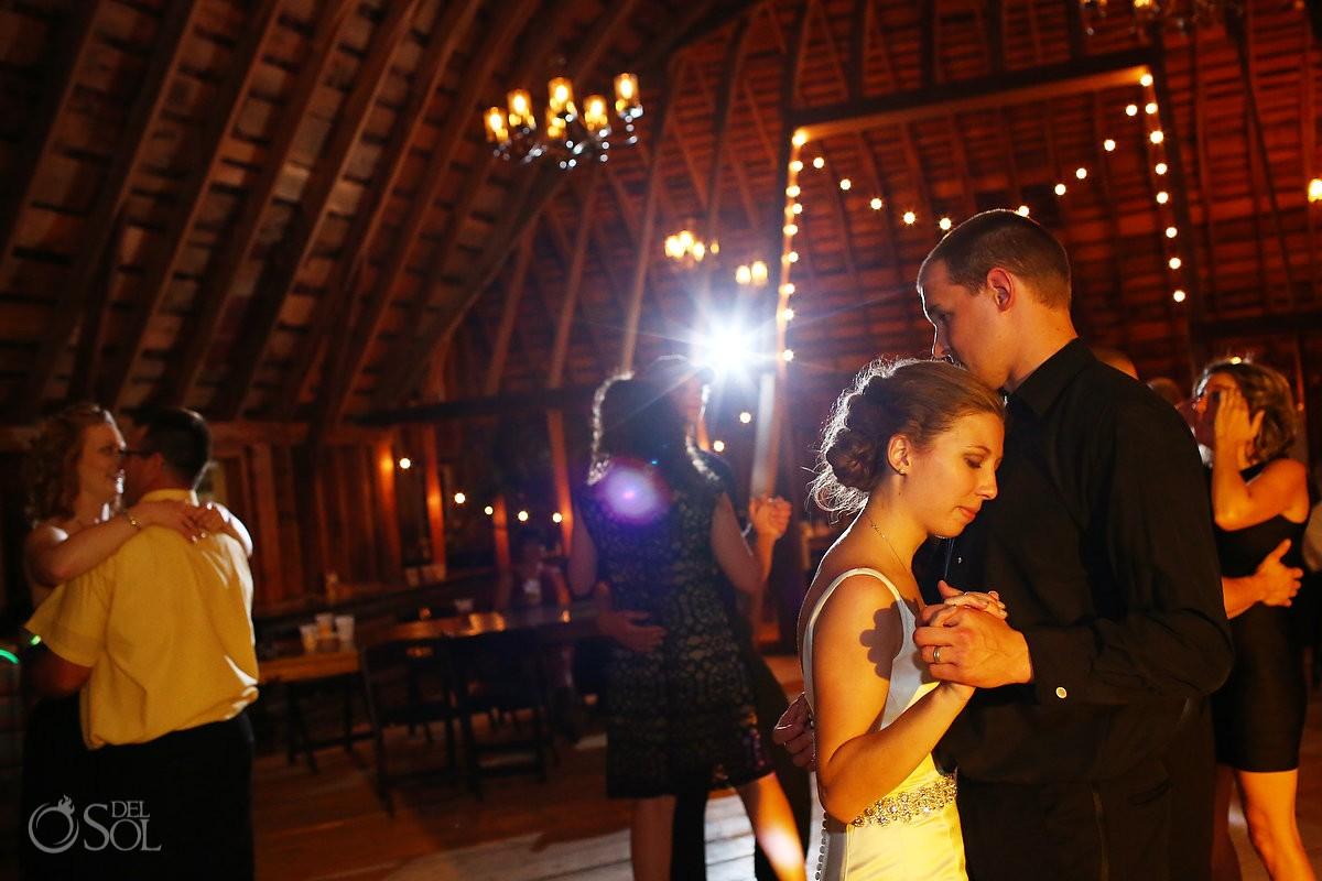 bride groom slow dance reception bloom lake barn