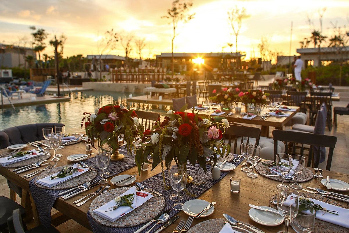 Playa del Carmen destination wedding reception Andaz Mayakoba Casar 2017