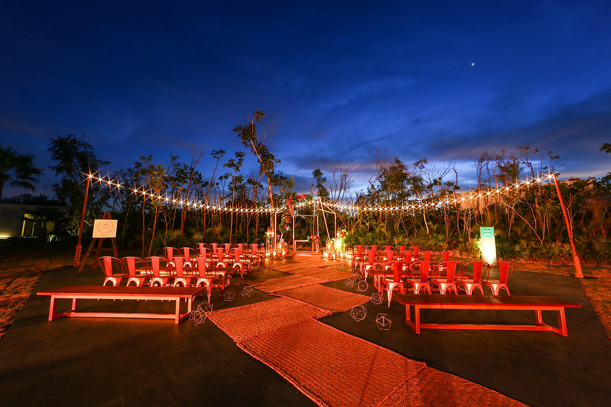 Playa del Carmen destination wedding long exposure Andaz Mayakoba Casar 2017