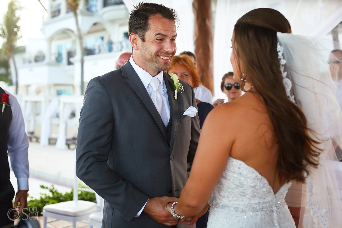 happy moment wedding Royal Playa del Carmen Mexico