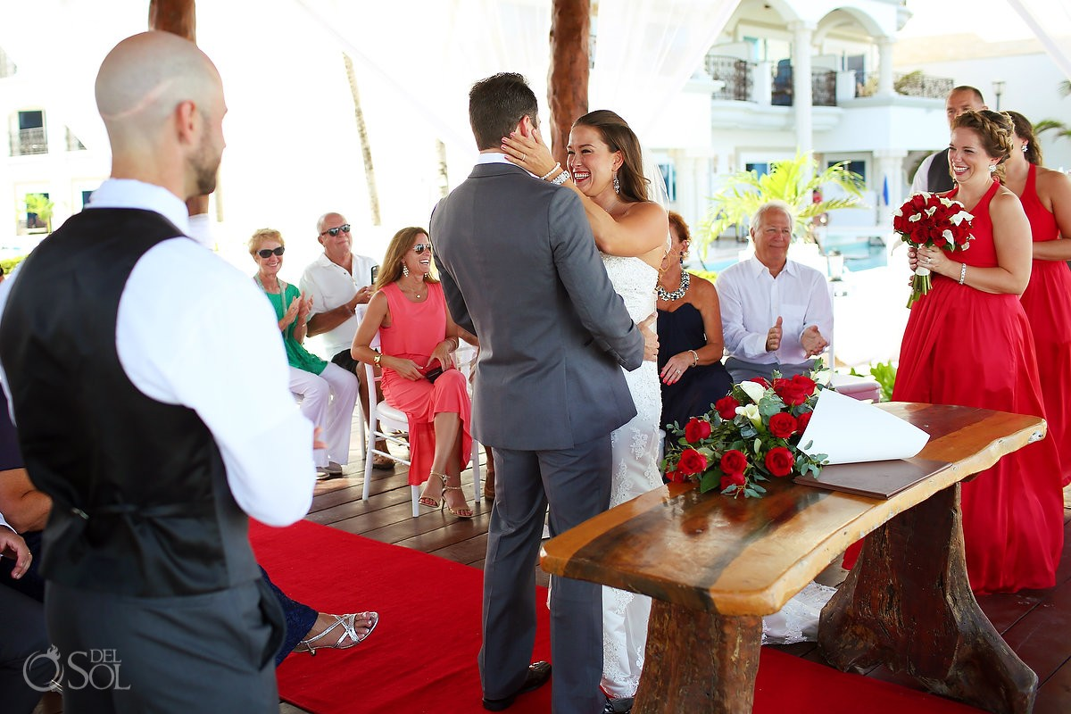 just married gazebo wedding Royal Playa del Carmen Mexico