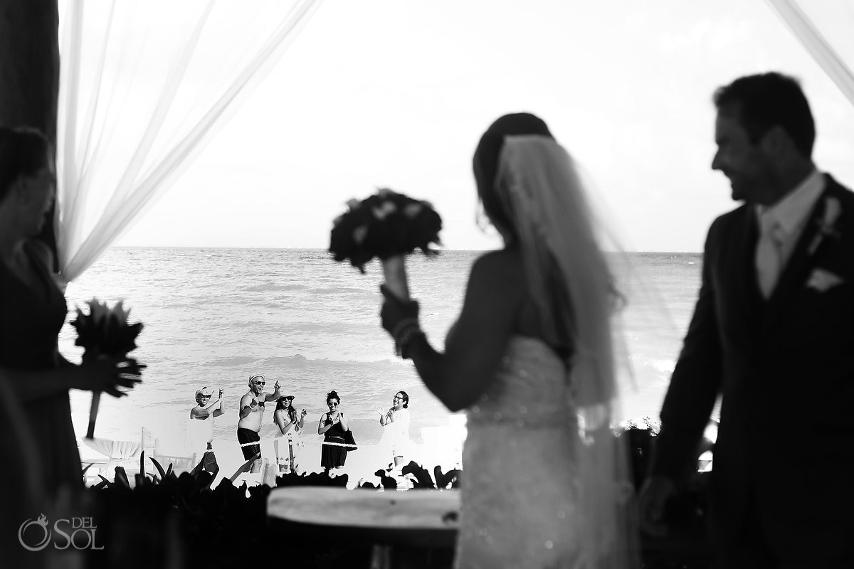 fun wedding moment Royal Playa del Carmen Mexico