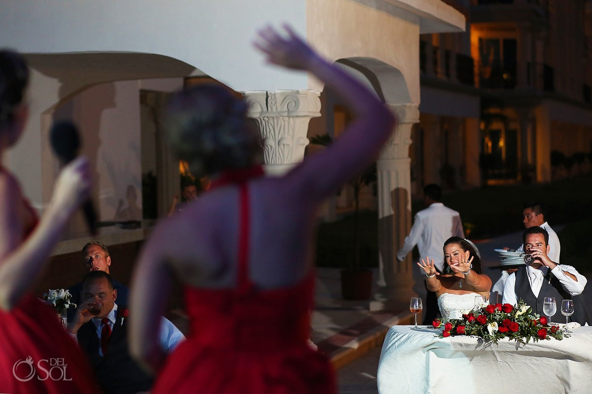 speeches wedding reception Royal Playa del Carmen Mexico
