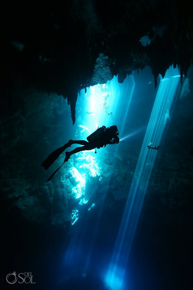 diving the pit riviera maya mexico
