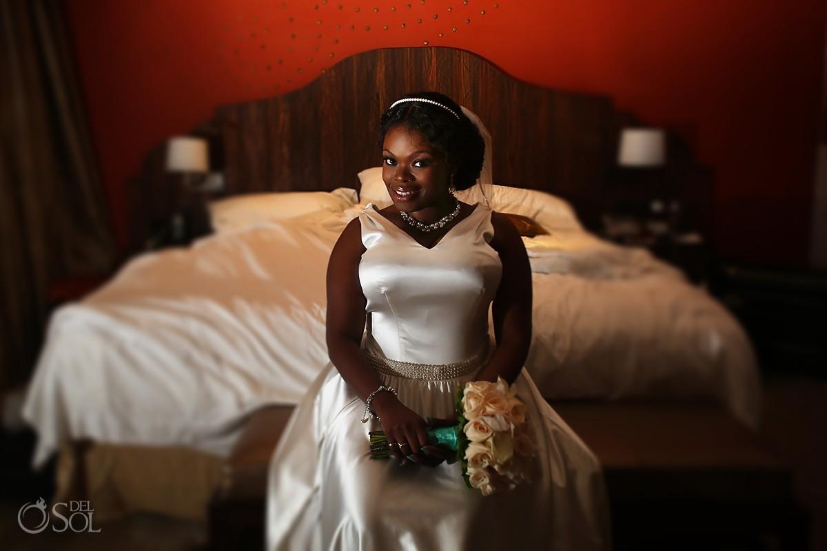 beautiful bride destination wedding portrait Hard Rock Riviera Maya