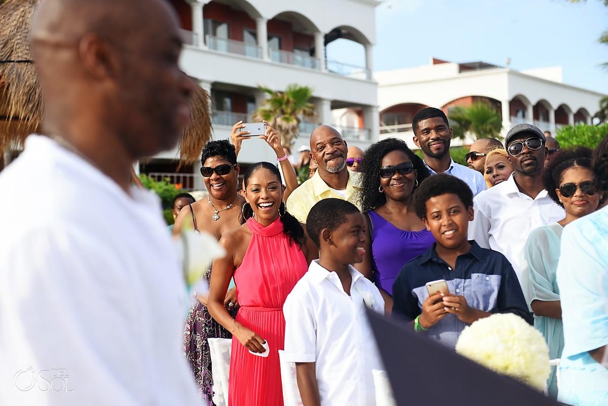 bride groom children Wedding at Hard Rock Hotel Riviera Maya