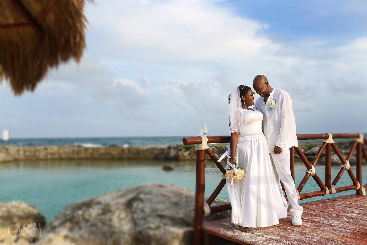 destination wedding portrait Beach Hard Rock Riviera Maya