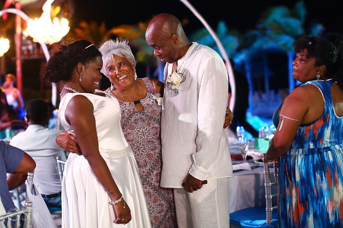speaaches family love moment destination wedding reception Hard Rock Riviera Maya