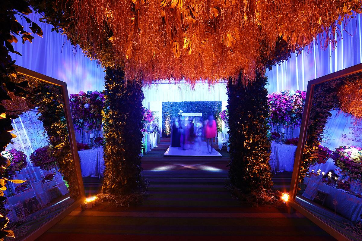Andaz Mayakoba ballroom banquet setup #KTMayakoba Karen Tran Master Floral Class The Floral Experience Andaz Mayakoba