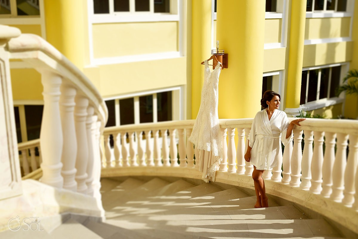 destination wedding bride at Iberostar Paraiso Maya
