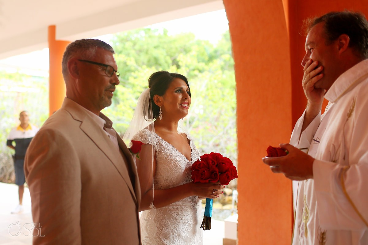 Father Reiner wedding at iberostar paraiso maya