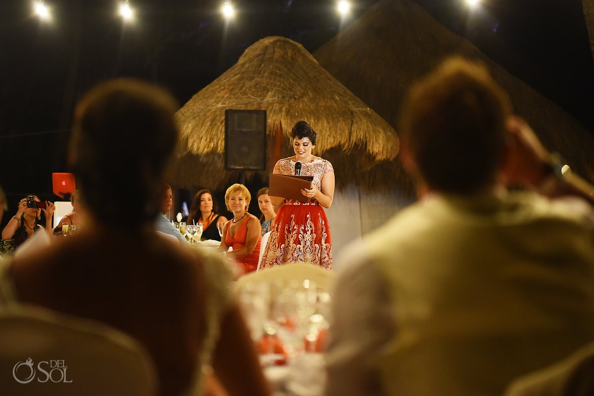 speeches Wedding at Iberostar paraiso maya