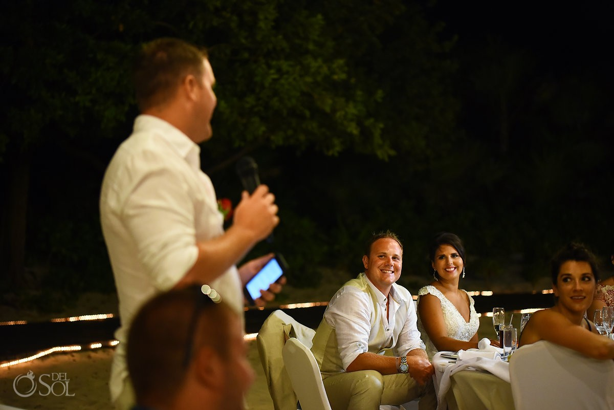 best man speeches Wedding at Iberostar paraiso maya