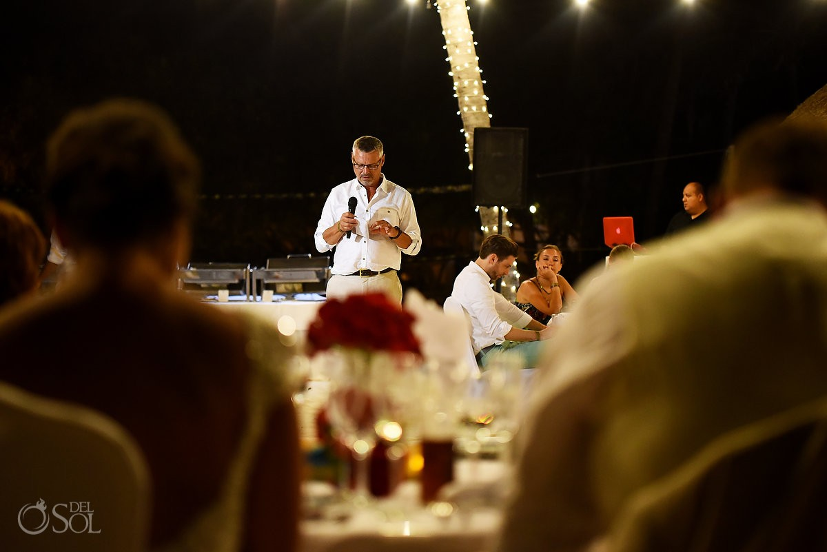 wedding reception speeches at Iberostar paraiso maya