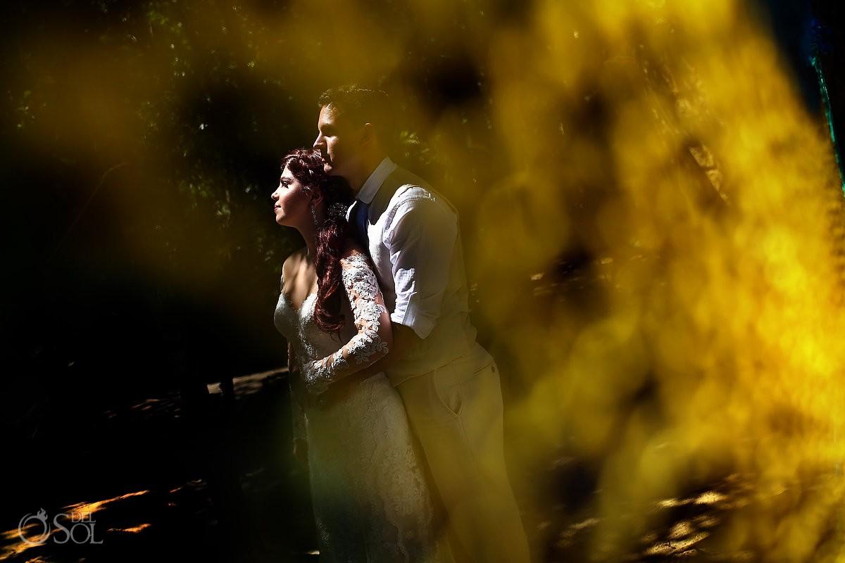 Amazing wedding Photos Cenote and Beach Riviera Maya Mexico