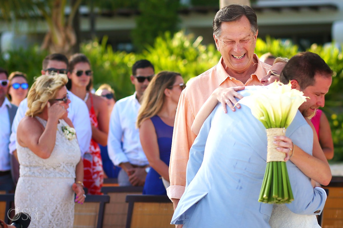 presentation of the bride beach ceremony destination wedding Grand Velas Resort, Playa del Carmen, Mexico
