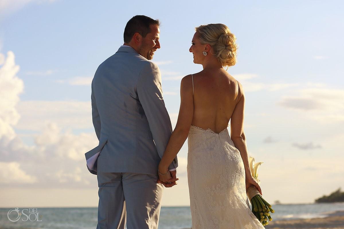 beach portrait destination wedding Grand Velas Resort, Playa del Carmen, Mexico