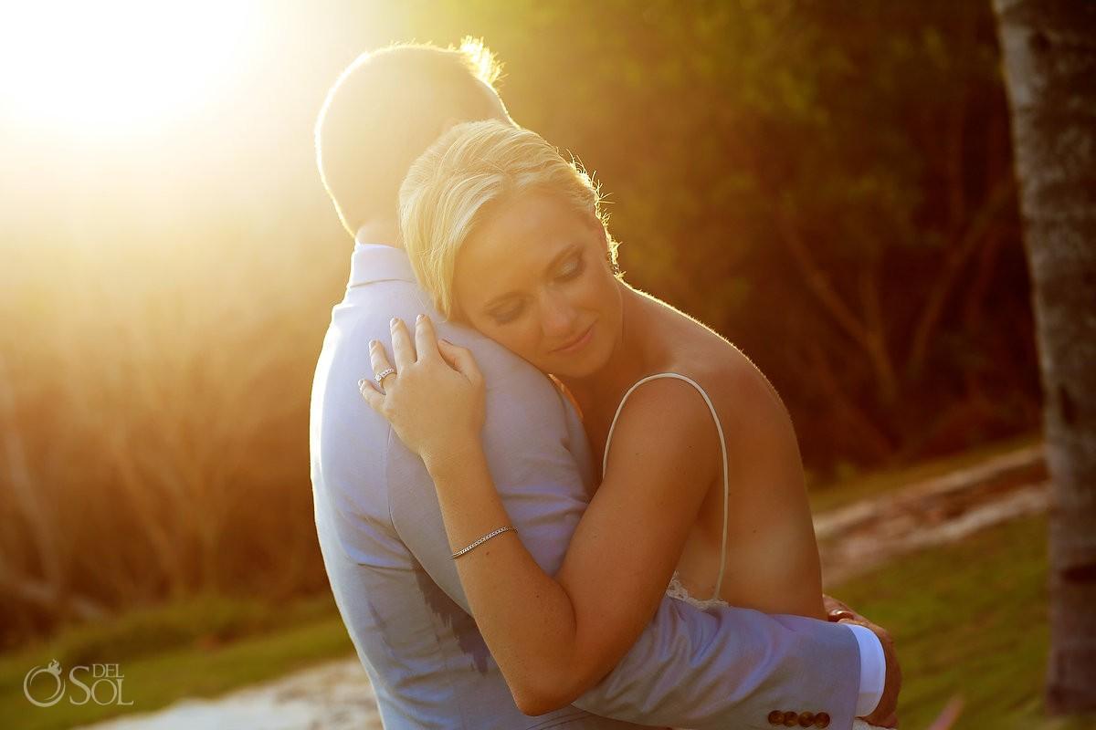 sunset portrait destination wedding Grand Velas Resort, Playa del Carmen, Mexico #travelforlove