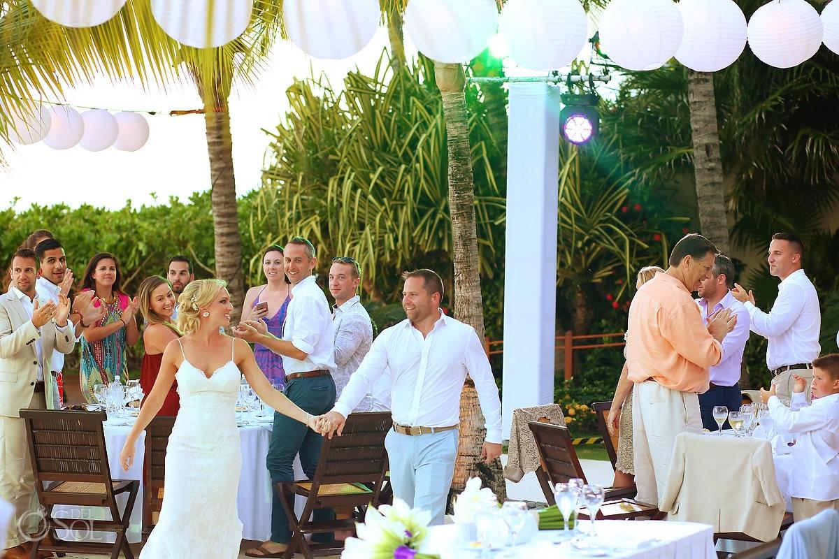 destination wedding reception entrance Zen Pool Terrace Grand Velas Resort, Playa del Carmen, Mexico