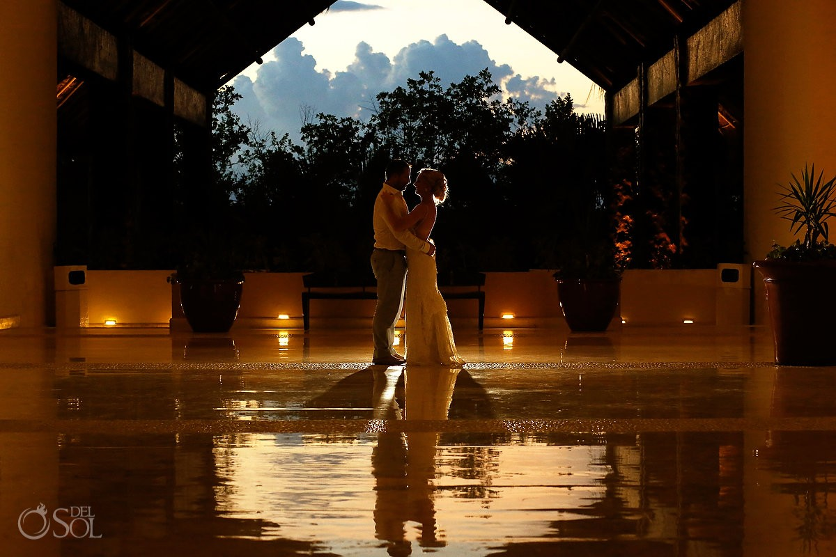 destination wedding portrait Grand Velas Resort, Playa del Carmen, Mexico