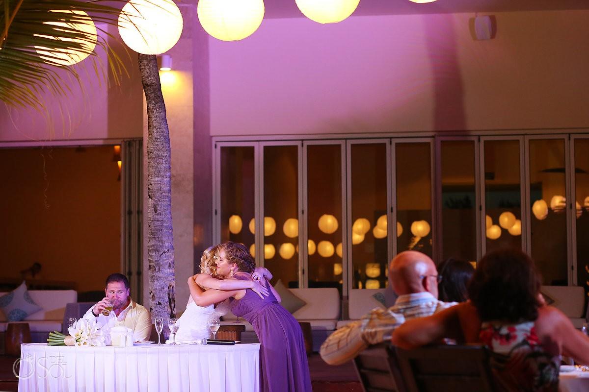 speeches destination wedding reception Zen Pool Terrace Grand Velas Resort, Playa del Carmen, Mexico