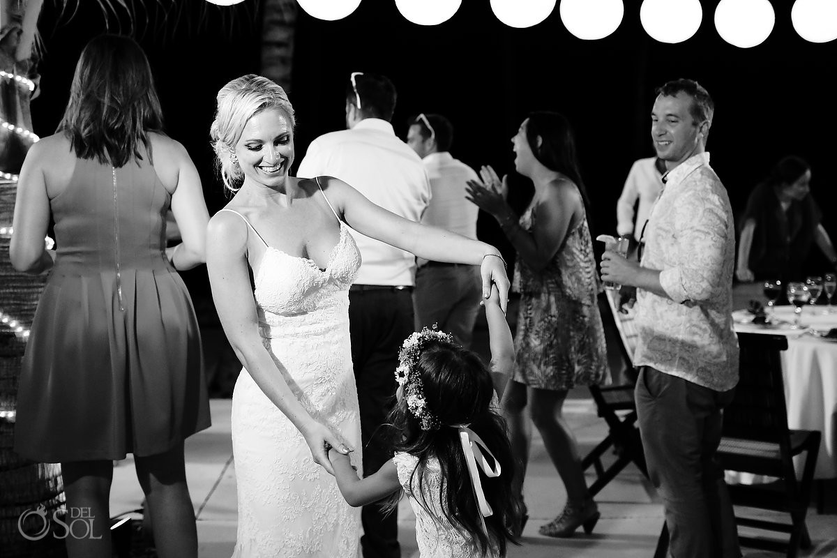 destination wedding reception Zen Pool Terrace Grand Velas Resort, Playa del Carmen, Mexico