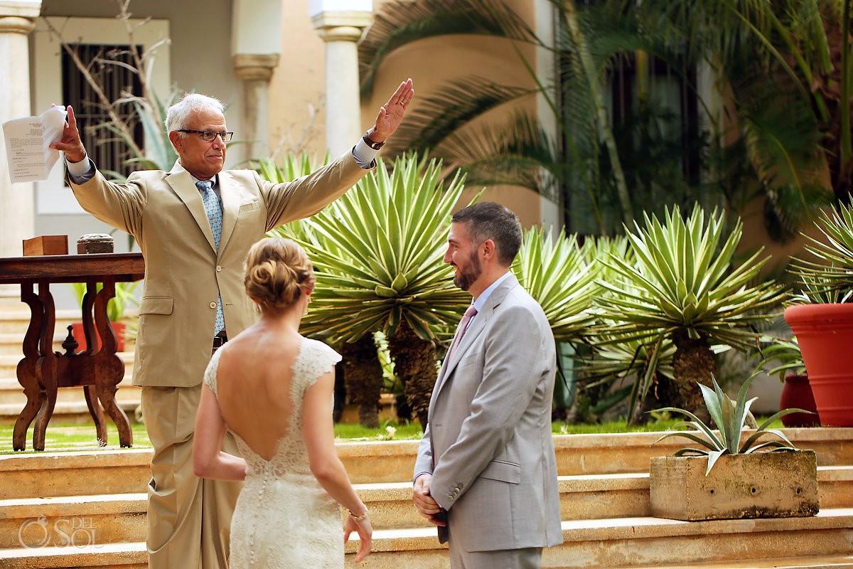 bride and groom wedding moment Hacienda del Mar Riviera Maya Mexico