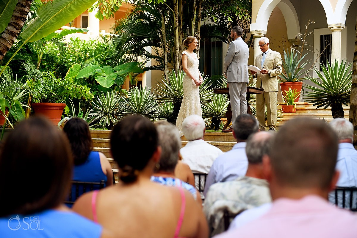 Garden Wedding Ceremony Location Hacienda del mar