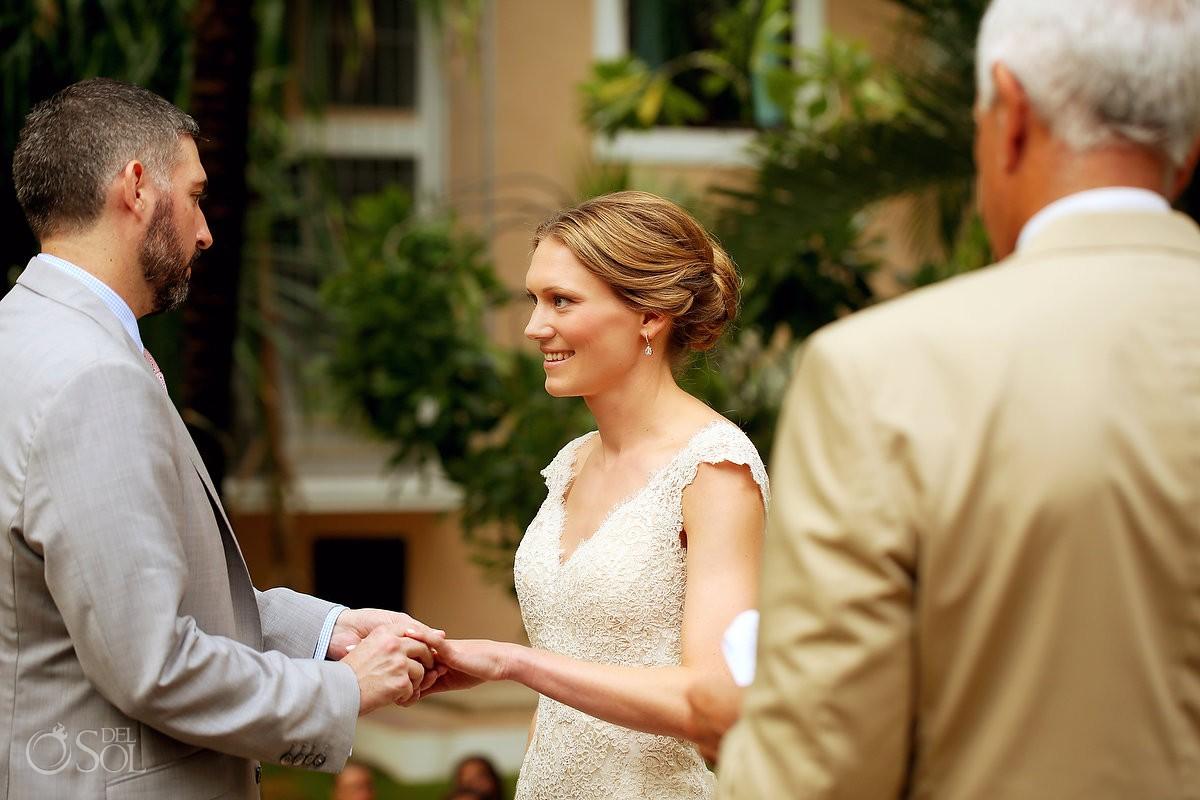 vows wedding rings Hacienda del Mar Riviera Maya Mexico