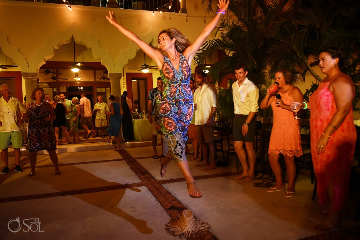 Happy dance wedding reception ideas Hacienda del Mar Riviera Maya Mexico
