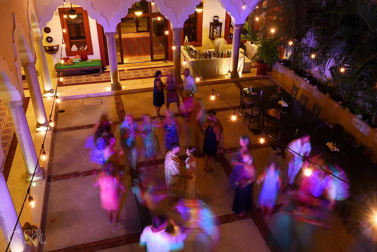 Slow shutter Wedding reception ideas Hacienda del Mar Riviera Maya Mexico