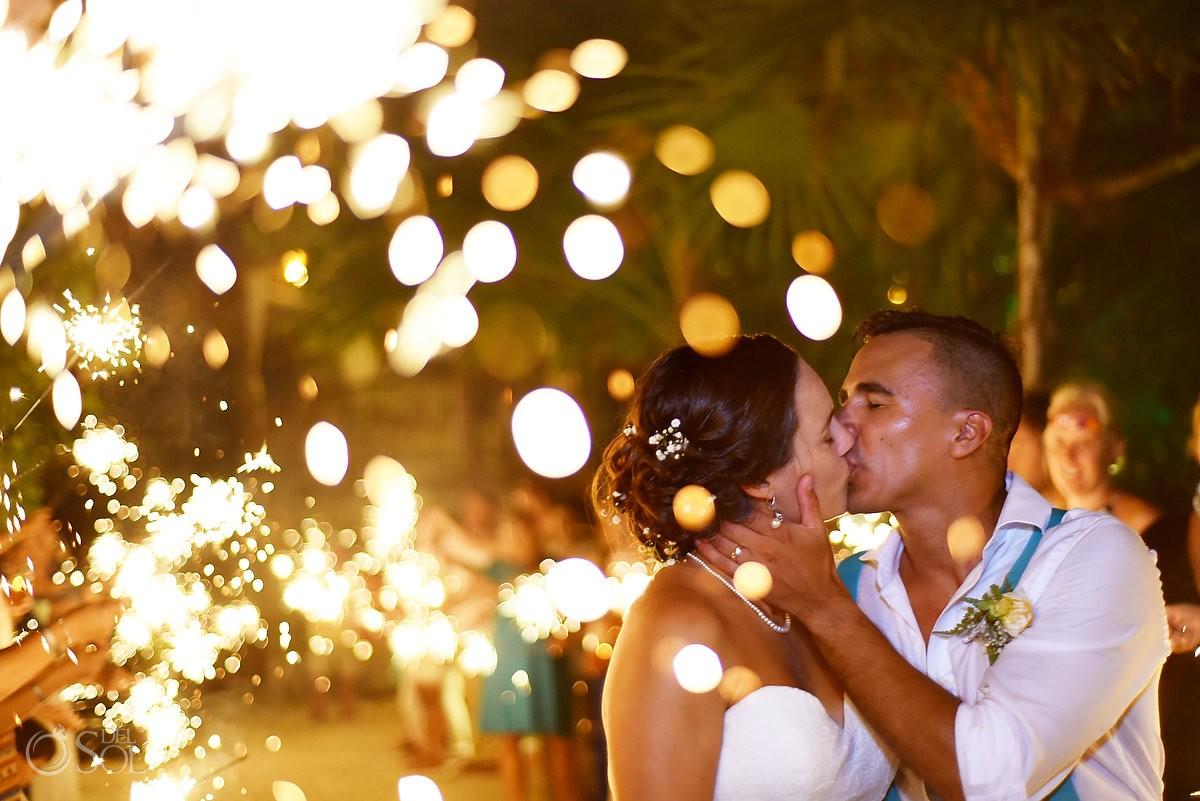 sparkeler exit destination wedding reception Grand Sirenis Riviera Maya Mexico