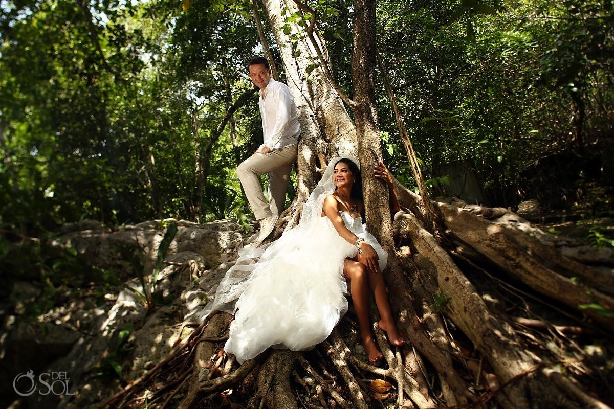 Sesión de fotos en la selva Riviera Maya