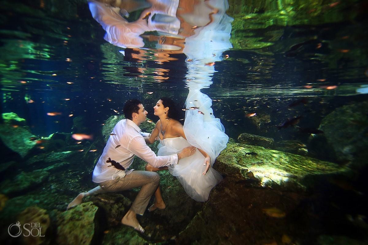 sesión de fotos bajo el agua