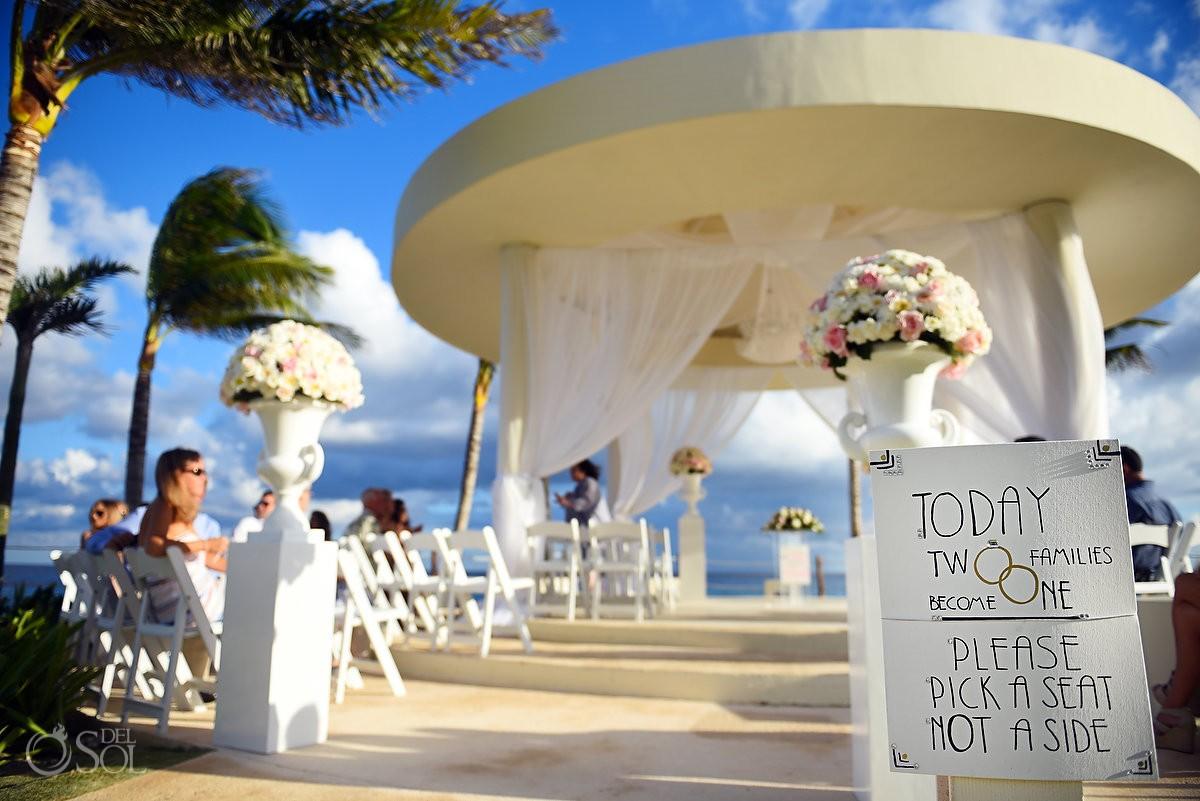 Wedding Sign Hyatt Ziva Cancun Mexico