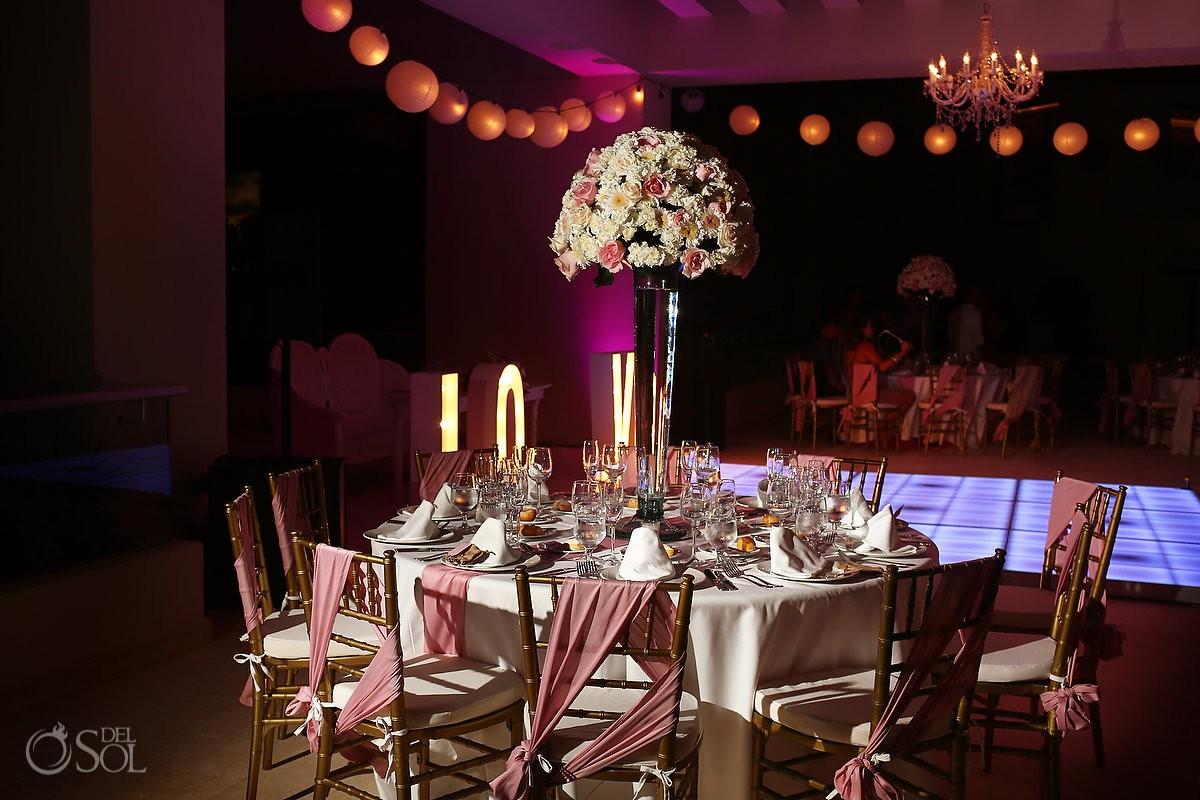 wedding reception details hyatt ziva cancun mexico destination wedding venue