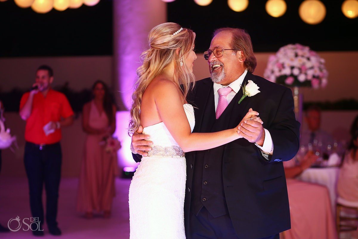 Hyatt Ziva Cancun wedding Photos bride father dance