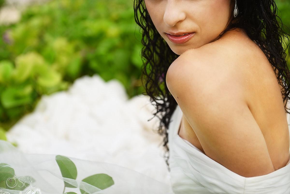 trash the dress bride lips detail